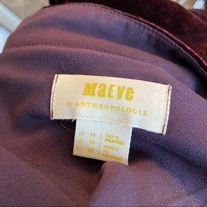 Anthropologie Skirts - Anthropologie Maeve Velvet Midi Skirt Plum 10